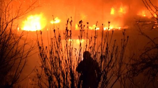 Das Gebäude brannte komplett aus.