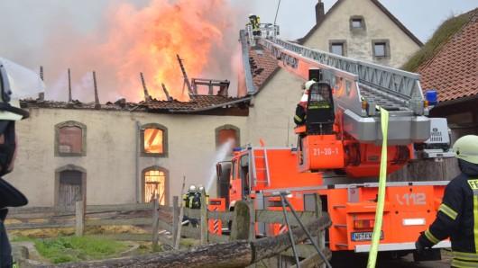 Am Montag war das Feuer in einer Scheune ausgebrochen.