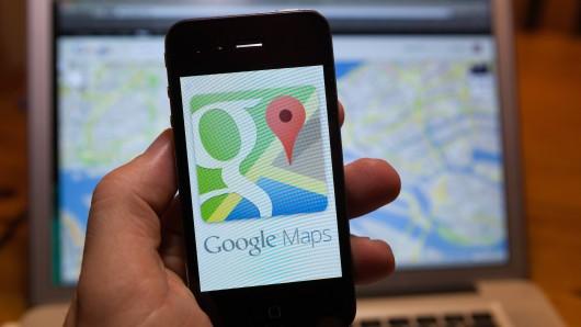 Googlemaps: Der Mann konnte nicht fassen, was er auf der Karte sah. (Symbolbild)