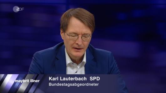 """Gesundheitsexperte Karl Lauterbach (SPD) bei """"Maybrit Illner""""."""