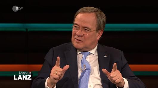 """NRW-Ministerpräsident Armin Laschet bei """"Markus Lanz"""" (ZDF)."""