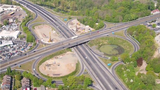Die A39 am Autobahnkreuz Braunschweig-Süd wird fürs Wochenende gesperrt.