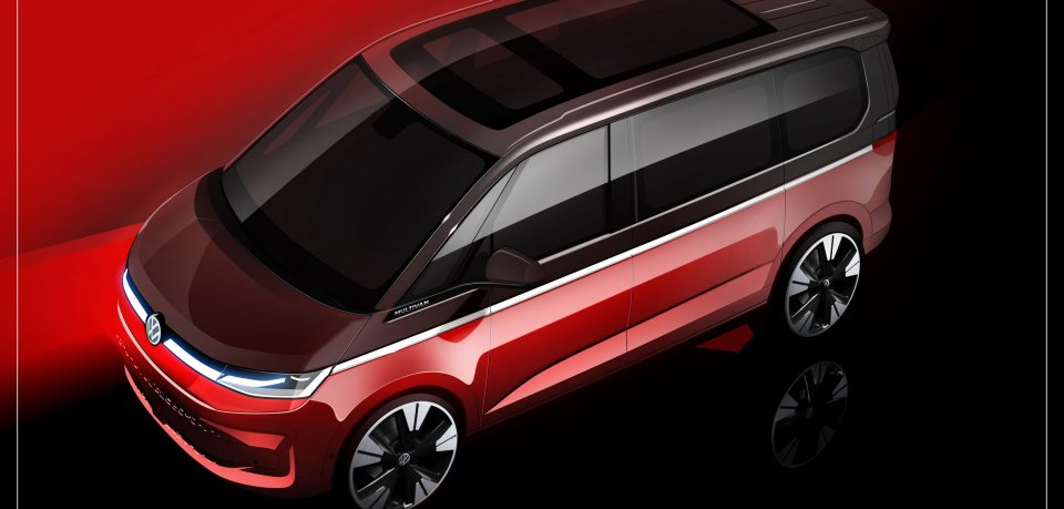 Im Mai hatte VW diese Skizze des neuen Multivan veröffentlicht.