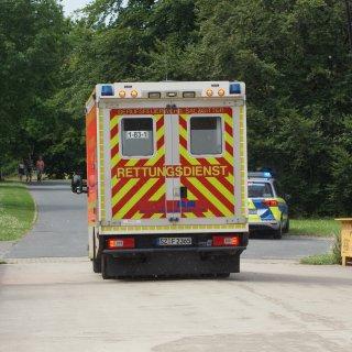 Die Person kam mit diesem Rettungswagen ins Klinikum Salzgitter.