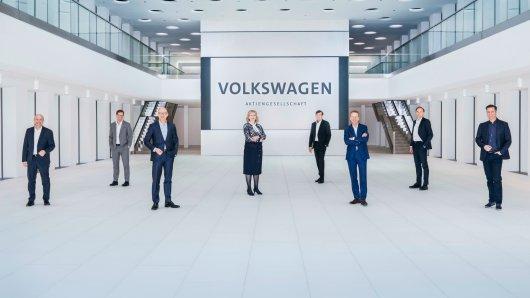 Der aktuelle Vorstand von VW. Angeblich muss ausgerechnet die einzige Frau gehen – Compliance-Chefin Hiltrud Werner.