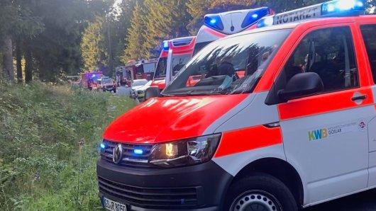 Nach einem Unfall bei Braunlage im Harz waren viele Rettungskräfte im Einsatz.