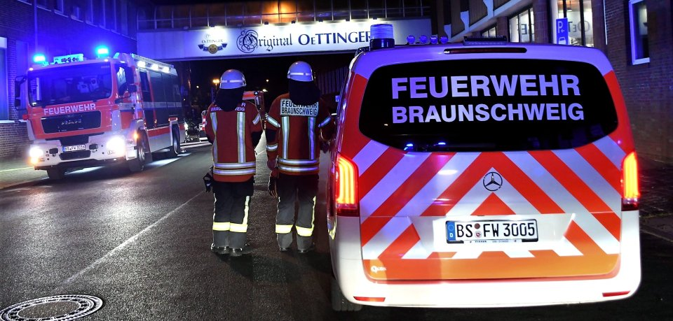 Bei Oettinger in Braunschweig ging es in der Nacht feuchtfröhlich zu – allerdings mit Löschwasser statt Bier.