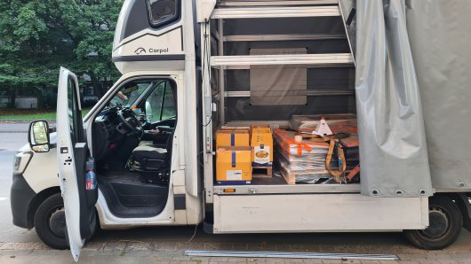 Ein Lkw-Fahrer hat in seinem Fahrzeug 78 Kilogramm Heroin entdeckt.