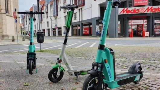 Bald sollen in Braunschweig noch mehr E-Scooter unterwegs sein.