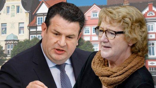 Sowohl Hubertus Heil (SPD) als auch Ingrid Pahlmann (CDU) würden gern wieder für Gifhorn-Peine in den Bundestag.