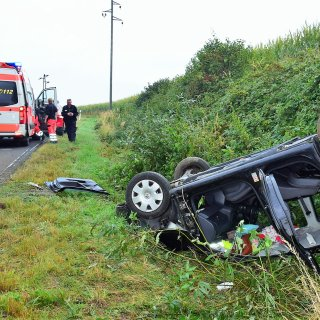 Bei einem Unfall im am Montagmorgen im Kreis Wolfenbüttel hatte sich ein Auto überschlagen.