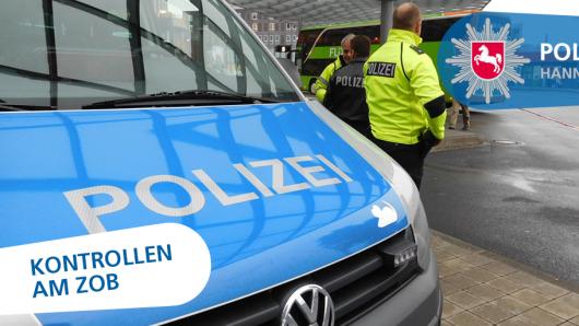 Die Polizei Hannover hat 19 Reisebusse am ZOB Hannover kontrolliert (Symbolbild).
