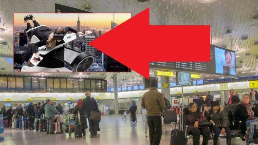 Fluggästen bietet sich eine neue Attraktionen am Flughafen Hannover.