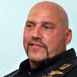 """""""Hells Angels""""-Prozess vor dem Amtsgericht in Hannover! Rock Frank Hanebuth und fünf andere Mitglieder sitzen auf der Anklagebank. (Archivbild)"""