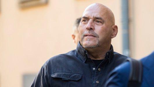 Hells Angels-Boss Frank Hanebuth muss sich vor dem Amtsgericht Hannover verantworten.