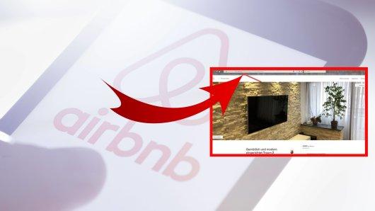 Das LKA Niedersachsen warnt derzeit vor Fake-Angeboten bei Wohnungen. Die Webseiten würden wir Aurbnb aussehen – haben mit dem Unternehmen aber nichts zutun. (Collage/Symbolbild)