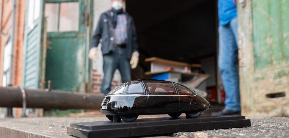 Ein erstes Modell des Schlörwagens dient zurzeit für Testzwecke.