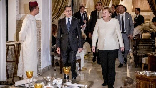 Bundeskanzlerin Angela Merkel ist derzeit in Marrakesch. Am Montag wollen mehr als 150 Mitgliedsstaaten der UN den Migrationspakt annehmen.