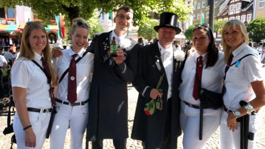 Auch der Spielmannszug des MTV Stederdorf war am Montag mit dabei.
