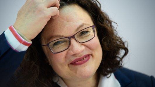 Für Andrea Nahles und die SPD geht es in Umfragen bergauf.