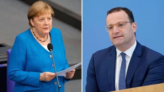 Kanzlerin Merkel hat sich im Bundestag zu einer Vorhersage von Jens Spahn geäußert.