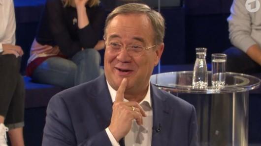 Kanzlerkandidat Armin Laschet lobte immer wieder sein Bundesland NRW in der ARD-Wahlarena.