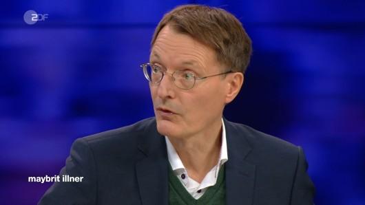 Karl Lauterbach in der ZDF-Talkshow von Maybrit Illner.