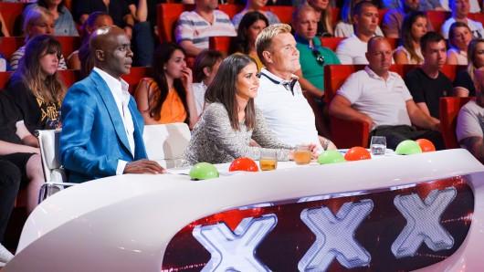 Das Supertalent: Die Jury besteht aus Bruce Darnell, Sarah Lombardi und Dieter Bohlen.