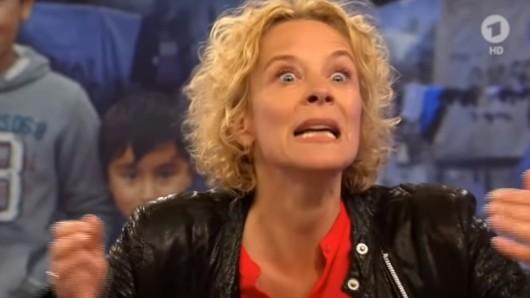 """Schauspielerin Katja Riemann hat bei """"Maischberger"""" mit einem heftigen Vergleich geschockt."""
