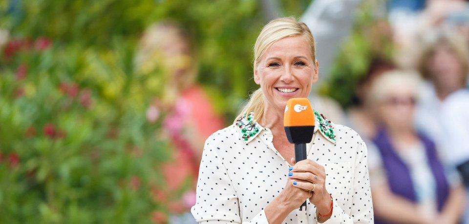 Fernsehgarten: Andrea Kiewel hat die kurze Pause von der ZDF-Show gut genutzt.