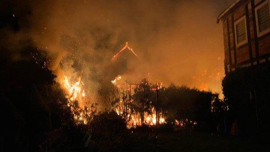 In Weferlingen stand ein Haus in Flammen. Auch die Feuerwehr Grasleben war dort im Einsatz.