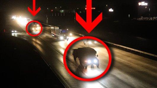 Wer demnächst nachts auf der A2 unterwegs ist, wird auf einen ungwöhnlichen Anblick stoßen.