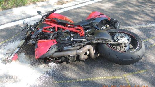 Harz: Ein Motorradfahrer (†21) verunglückte mit dieser Maschine.