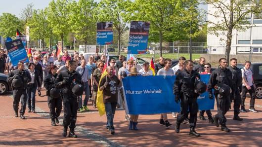 Rund 140 Teilnehmer schlossen sich dem AfD-Zug an. Jens Kestner war nicht dabei.