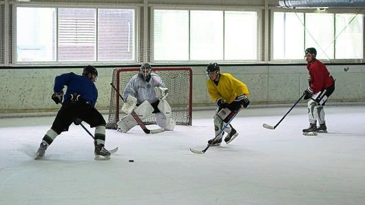 Die Icefighters Salzgitter stehen wieder auf dem Eis. Trainer Radek Vit bat seine Truppe in Bad Sachsa zum Trainingsauftakt.