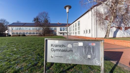 Das Kranichgymnasium in Salzgitter war einer von vier Tatorten (Archivbild).