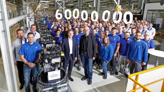 Derzeit produzieren die Mitarbeiter im Volkswagen Komponenten Werk Salzgitter täglich 7.000 Motoren verschiedenster Art.