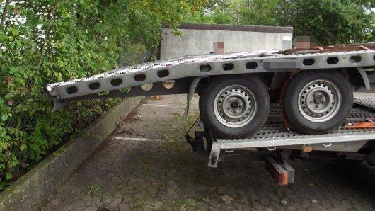Diesen Lkw hat die Polizei in Salzgitter stillgelegt. Aus mehreren Gründen.