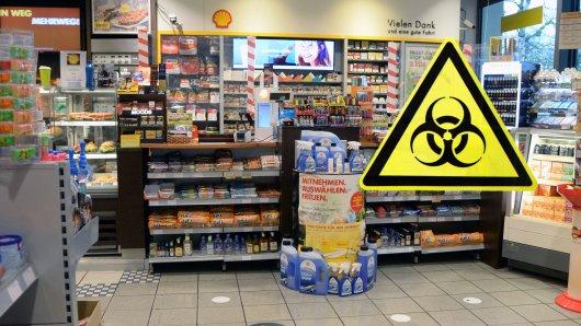 In einer Tankstelle in Lebenstedt in Salzgitter hat es eine widerliche Corona-Attacke gegeben! (Symbolbild)