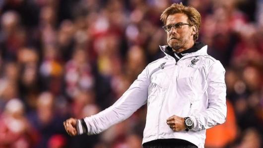Jürgen Klopp bejubelt seinen Erfolg mit dem FC Liverpool.