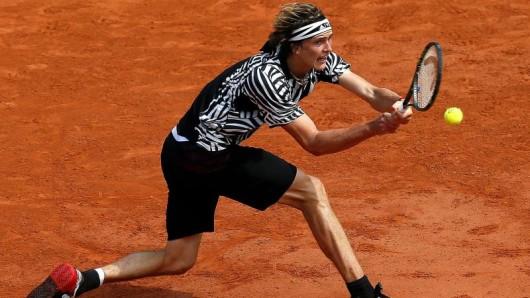 Alexander Zverev verlor in der dritten Runde gegen den Österreicher Dominic Thiem.