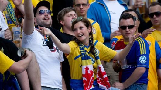 Eintracht Braunschweig-Fans.