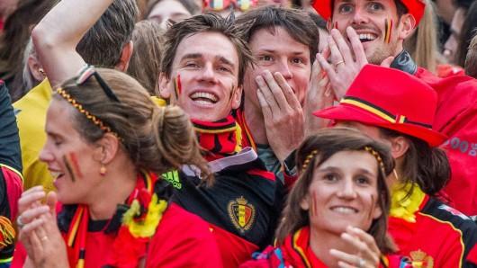 Belgische Fans freuen sich.