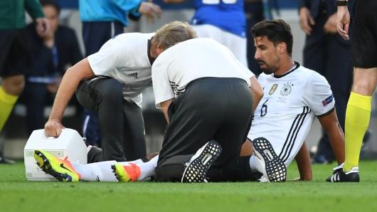 Sami Khedira hat sich im Spiel gegen Italien verletzt.