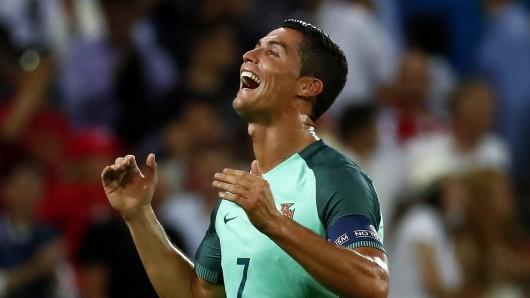 Cristiano Ronaldo freut sich auf das EM-Finale.