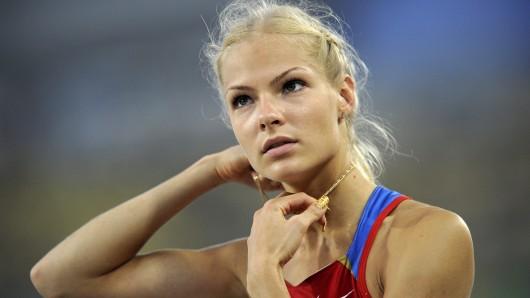 Russlands Weitspringerin Darja Klischina.