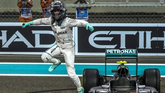 Nico Rosberg kurz nach dem Gewinn des WM-Titels.