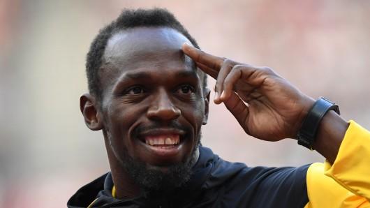Der schnellste mann der Welt:  Usain Bolt aus Jamaika. (Archivbild)