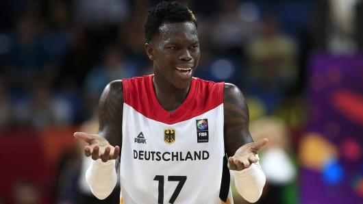 Auch der Braunschweiger NBA-Star Dennis Schröder konnte die Niederlage nicht verhindern.