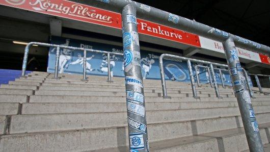 Die Fankurve des MSV Duisburg wird wohl noch längere Zeit keine Fans beherbergen.